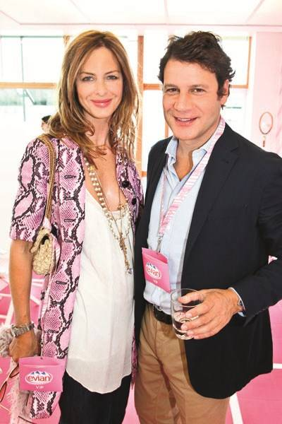 Trinny Woodall and Stefano Bonfiglio