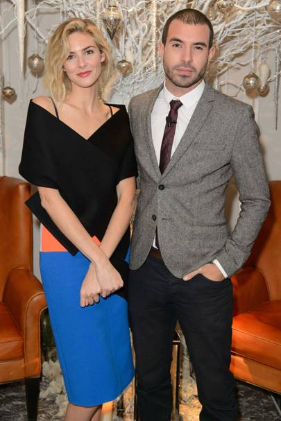 Tamsin Egerton and Tom Cullen