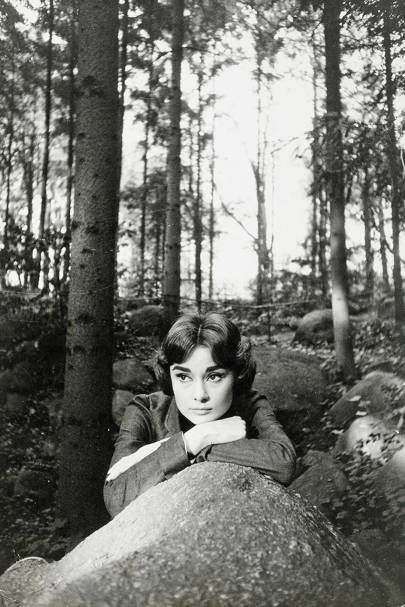 Audrey Hepburn during filming of the 1957 Allied Artists production Love in the Afternoon, Paris