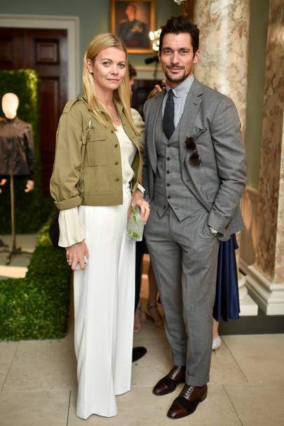 The Countess of Mornington and David Gandy