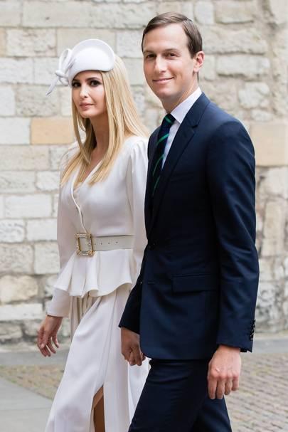 Ivanka y su esposo Jared Kushner durante su visita al reino unido, 2019.