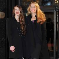 With mum Jerry Hall at Harrods, December 2010
