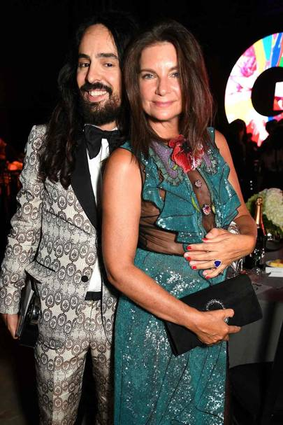 Alessandro Michele and Dame Natalie Massenet