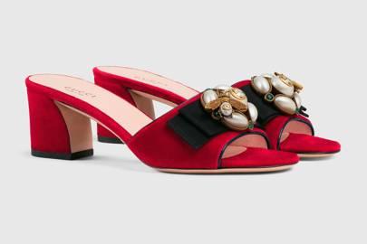 Gucci velvet slides