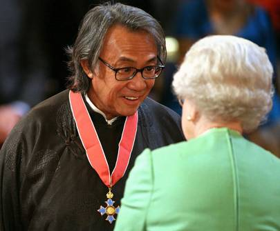 Sir David Tang and The Queen, 2008