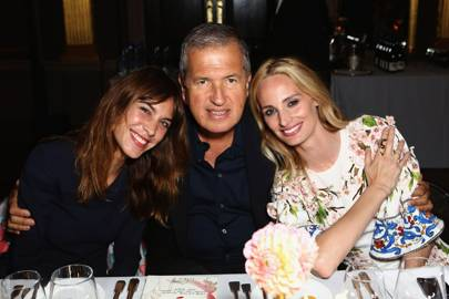 Alexa Chung, Lauren Santo Domingo and Mario Testino