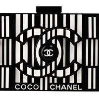 Plexiglass clutch, £6,400, by Chanel