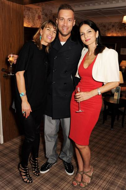 Anastasia Webster, Calum Best and Yasmin Mill