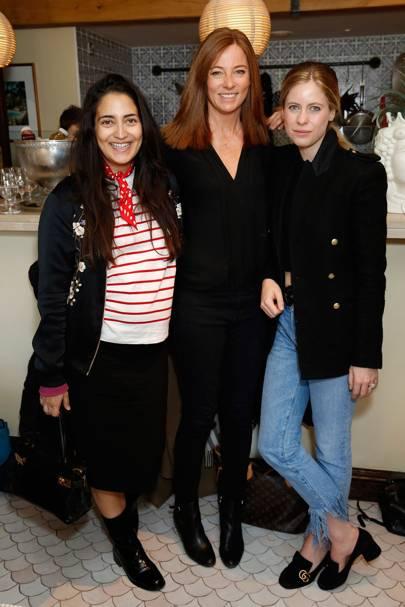 Nura Khan, Heidi Klein and Violet Vestey