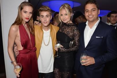 Lana Zakocela, Justin Bieber, Marissa Montgomery and Jamie Reuben