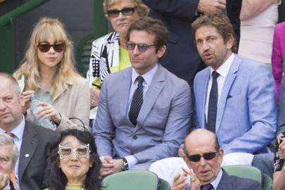 Suki Waterhouse, Bradley Cooper and Gerard Butler