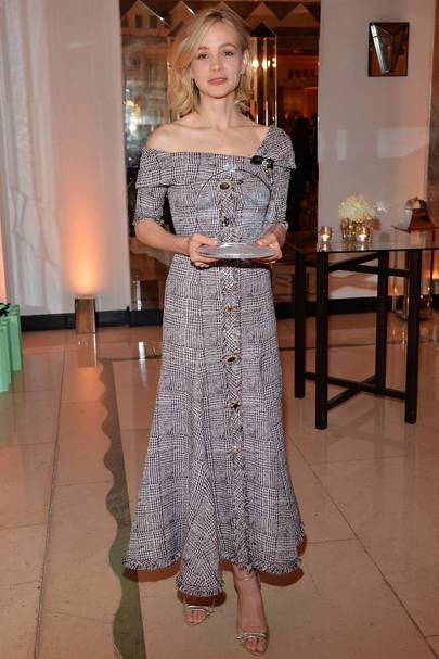 Wearing Erdem at the Harper's Bazaar Women of the Year Awards, 2017