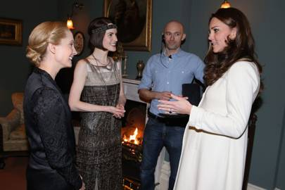 Joanne Froggatt, Michelle Dockery and the Duchess of Cambridge