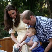 The Duchess of Cambridge, the Duke of Cambridge and Prince George