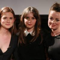 Bonnie Wright, Felicity Jones and Caroline Harvey