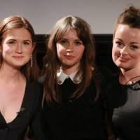 Bonnie Wright, Felicity Jones and Caroline Harvey