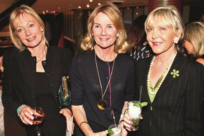 Lady Jacqui Rufus Isaacs, Lady Mary Gaye Curzon and Rosie, Marchioness of Northampton
