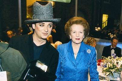 Boy George and Baroness Thatcher