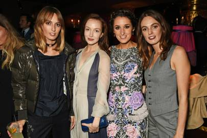 Lady Alice Manners, Olivia Grant, Rosanna Falconer and Lady Violet Manners