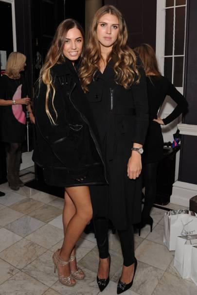 Amber Le Bon and Sabrina Percy