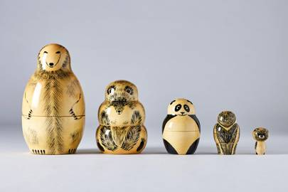 Wooden Matryoshka bears