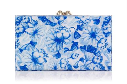 Perspex clutch, £795, by Charlotte Olympia