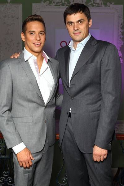 Chad Le Clos and Alexander Popov