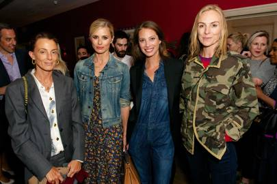 Laura Bailey, Cathy Kasterine, Phoebe Philo and Christy Turlington Burns