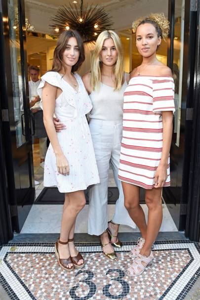 Laura Jackson, Camille Charriere and Phoebe Collings-James