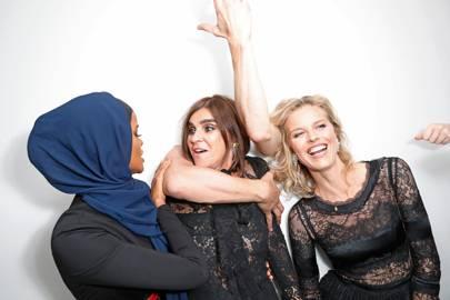 Halima Aden, Carine Roitfeld and Eva Herzigova