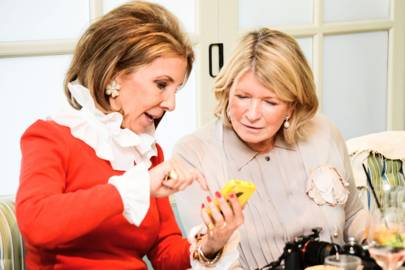 Martha Stewart and Sydie Lansing