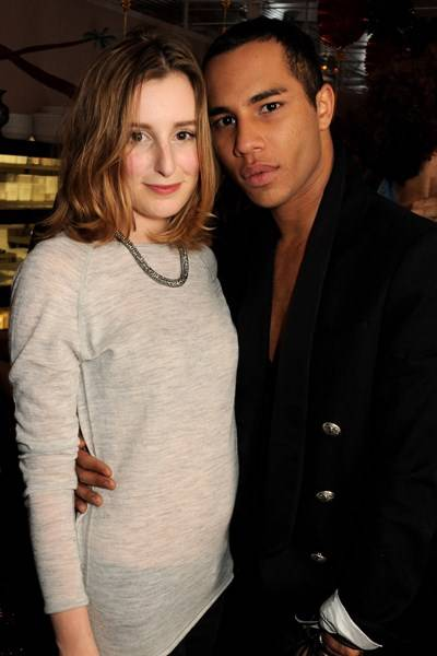 Laura Carmichael and Olivier Rousteing