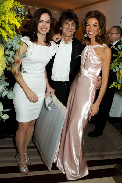 Sally Humphries, Ronnie Wood and Heather Kerzner