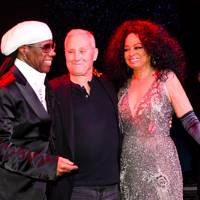 Nile Rodgers, Ian Schrager and Diana Ross