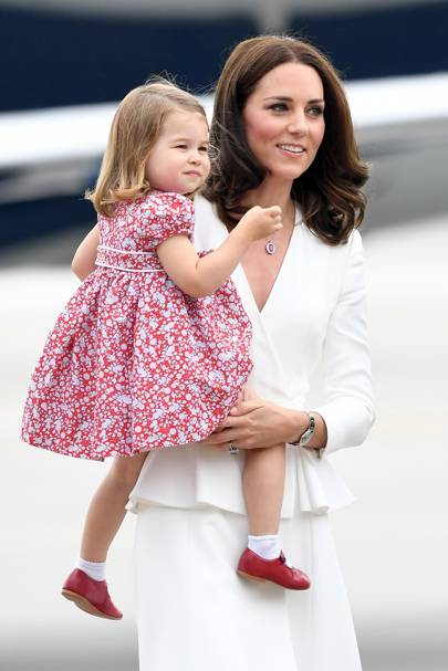 Princess Charlotte and the Duchess of Cambridge