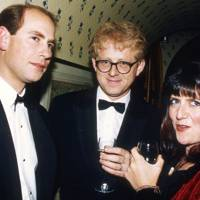 Prince Edward, Richard Curtis and Emma Freud
