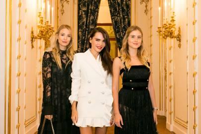 Leonie Hanne, Evangelie Smyrniotaki and Valentina Ferragni