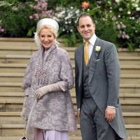 Princess Michael of Kent and Lord Frederick Windsor at Lady Gabriella Windsor and Thomas Kingston's wedding, May 2019