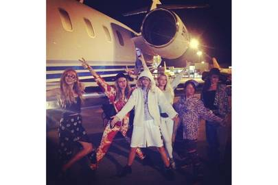 Cara's crew lift off from Ibiza (2014 )