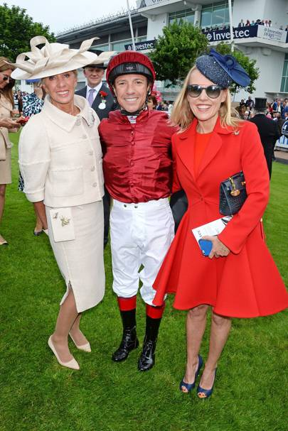 Lady Bamford, Frankie Dettori and Alice Bamford