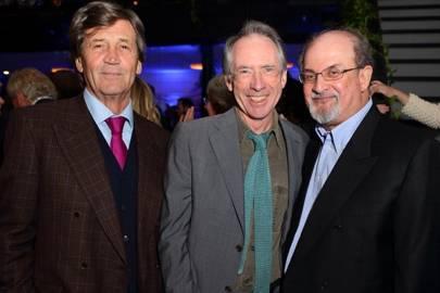 Melvyn Bragg, Ian McEwan and Salman Rushdie