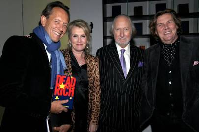 Richard E Grant, Louise Fennell, Ed Victor and Theo Fennell