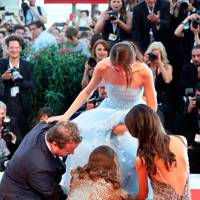 Brady Corbet, Raffey Cassidy, Natalie Portman and Stacy Martin at the 'Vox Lux premiere