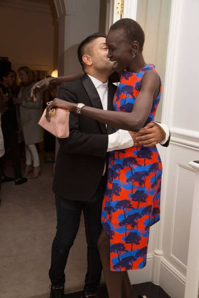 Osman Yousefzada and Alek Wek