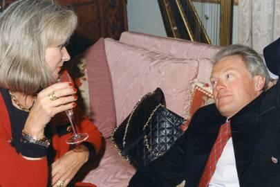 Mrs Carlos Meija and Peter Scott