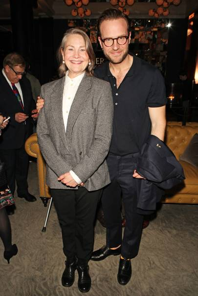 Cherry Jones and Rafe Spall