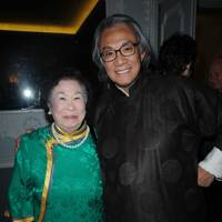 Sir David Tang with his mother, 2008