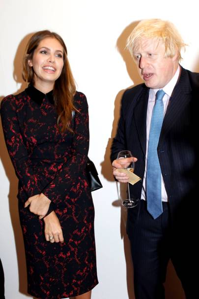 Dasha Zhukova and Boris Johnson