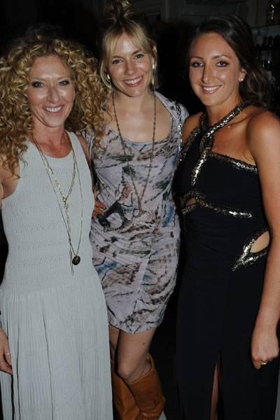 Kelly Hoppen, Sienna Miller and Natasha Corrett