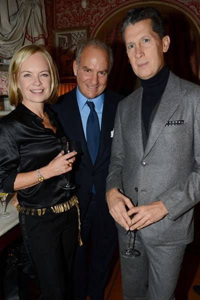 Mariella Frostrup, Charles Finch and Stefano Tonchi
